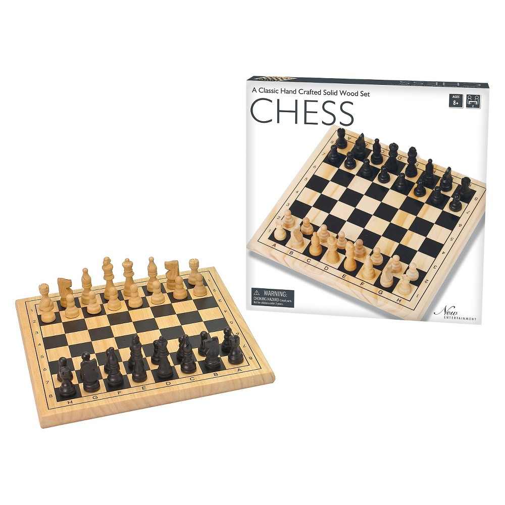 Intex Entertainment Solid Wood Chess Board Game