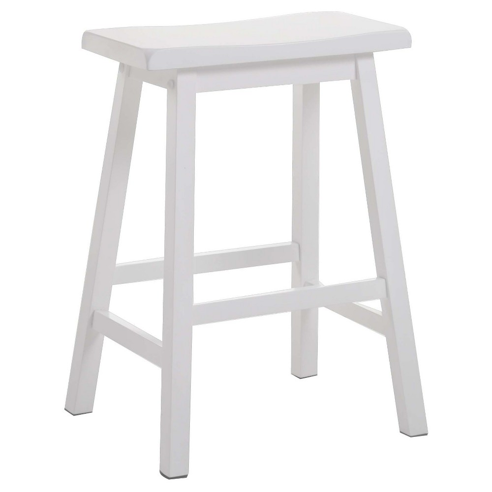 Image of 2pc 2 Pc Counter And Bar Stools Acme Furniture White