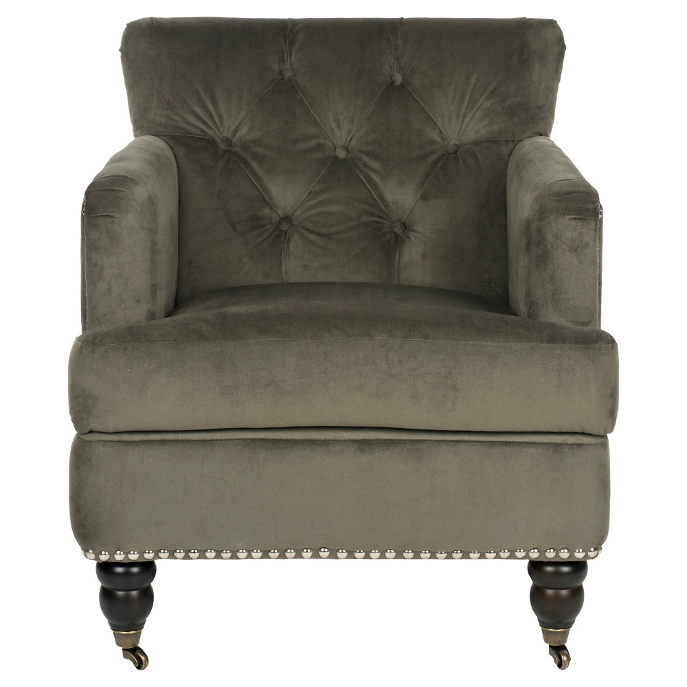 Colin Tufted Club Chair Graphite (Grey) - Safavieh
