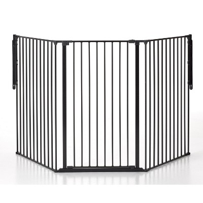 Scandinavian Pet Design 50516-2600 Flex Large and Extra Tall Adjustable 35 to 88 Inch Wide 41 Inch Tall Wall Mounted Metal Pet Safety Gate, Black