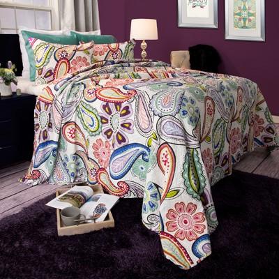 Lizzie 3 Piece Quilt Set (Full/Queen)- Yorkshire Home