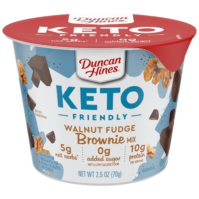 Duncan Hines Keto Friendly Walnut Fudge Brownie Cup - 2.5oz