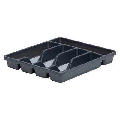 5-Compartment Flatware Organizer Gray - Room Essentials™