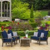 Leala Texture Deep Seat Outdoor Cushion Set - Arden Selections - image 3 of 4