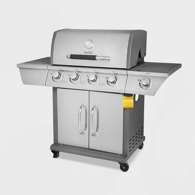 Stainless Steel 4 Burner Propane Gas Grill with Side Burner GG4302S Silver - Royal Gourmet