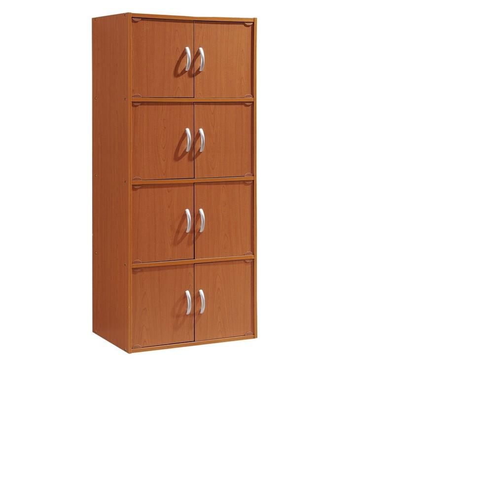 Storage Cabinet Cherry (Red) - Hodedah Import