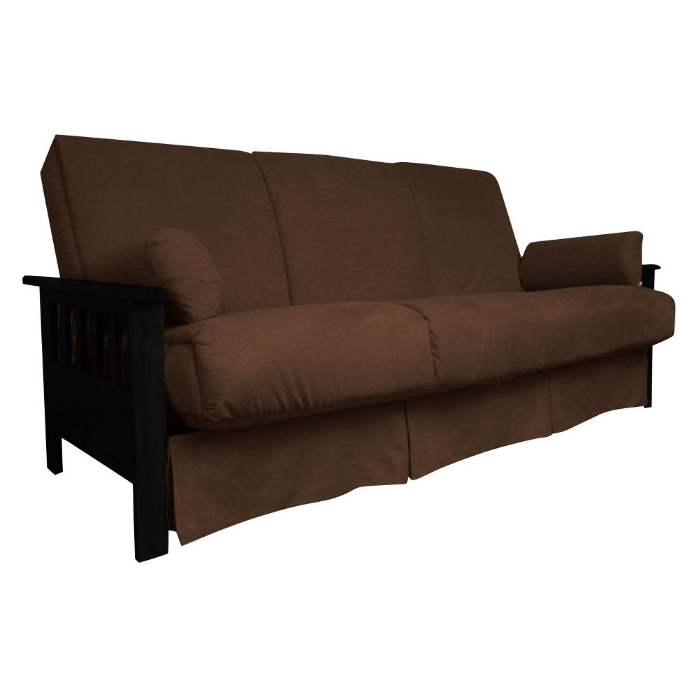 Mission Perfect Convertible Futon Sofa Sleeper - Black Wood Finish - Epic Furnishings, Espresso Brown