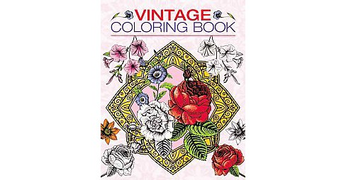 Vintage Adult Coloring Book - image 1 of 1
