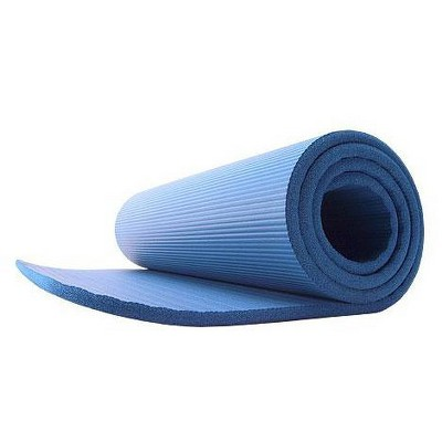 GoFit Deluxe Pilates and Yoga Mat - Blue (12mm)