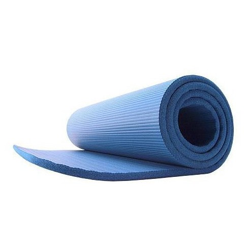 GoFit Deluxe Pilates and Yoga Mat - Blue (12mm) - image 1 of 4
