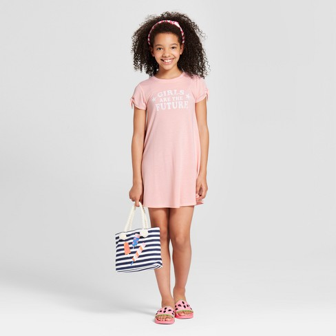 09b6d941196 ...  Girls Are The Future  Graphic T-Shirt Dress - Light Pink. Shop all Grayson  Social