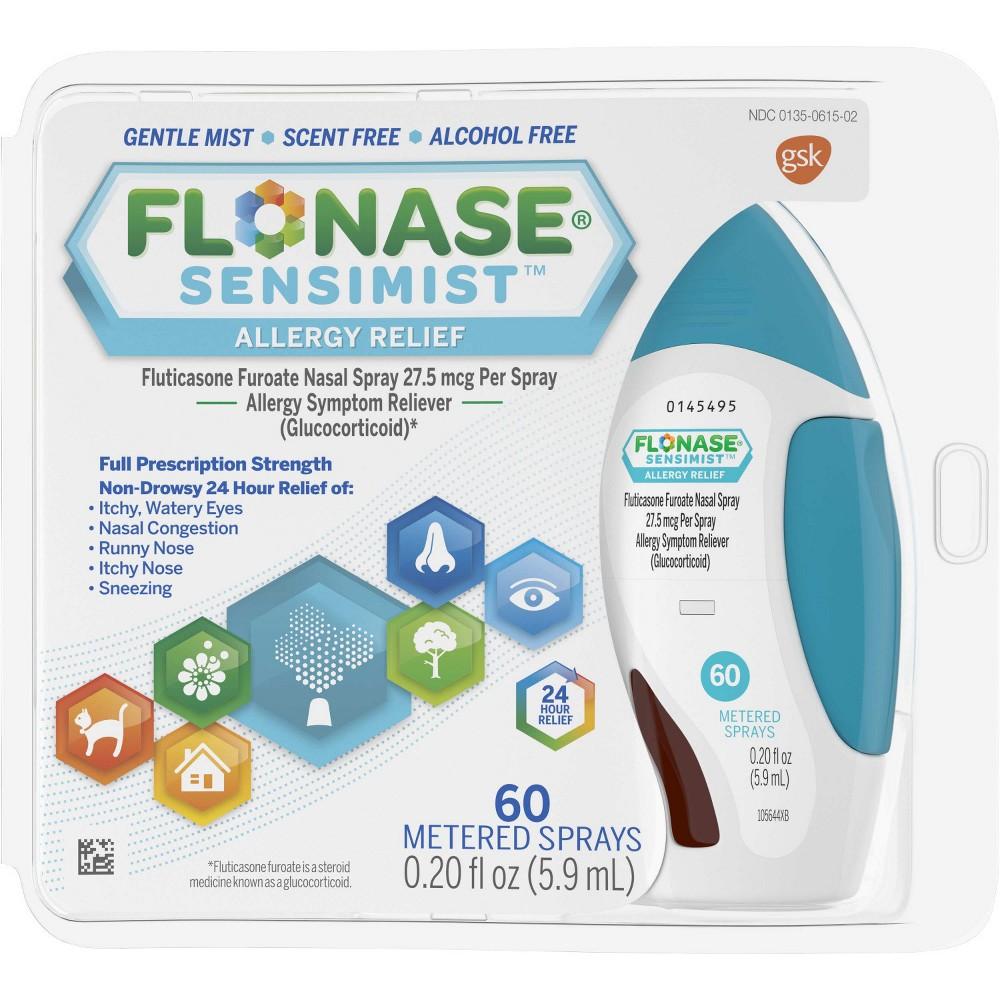Flonase Sensimist 24-Hour Allergy Relief Nasal Spray - Fluticasone Furoate - 0.2 fl oz