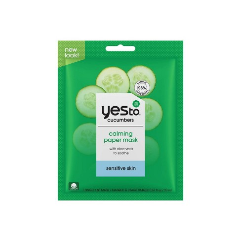 Yes To Cucumbers Calming Paper Face Mask - 1ct - image 1 of 3