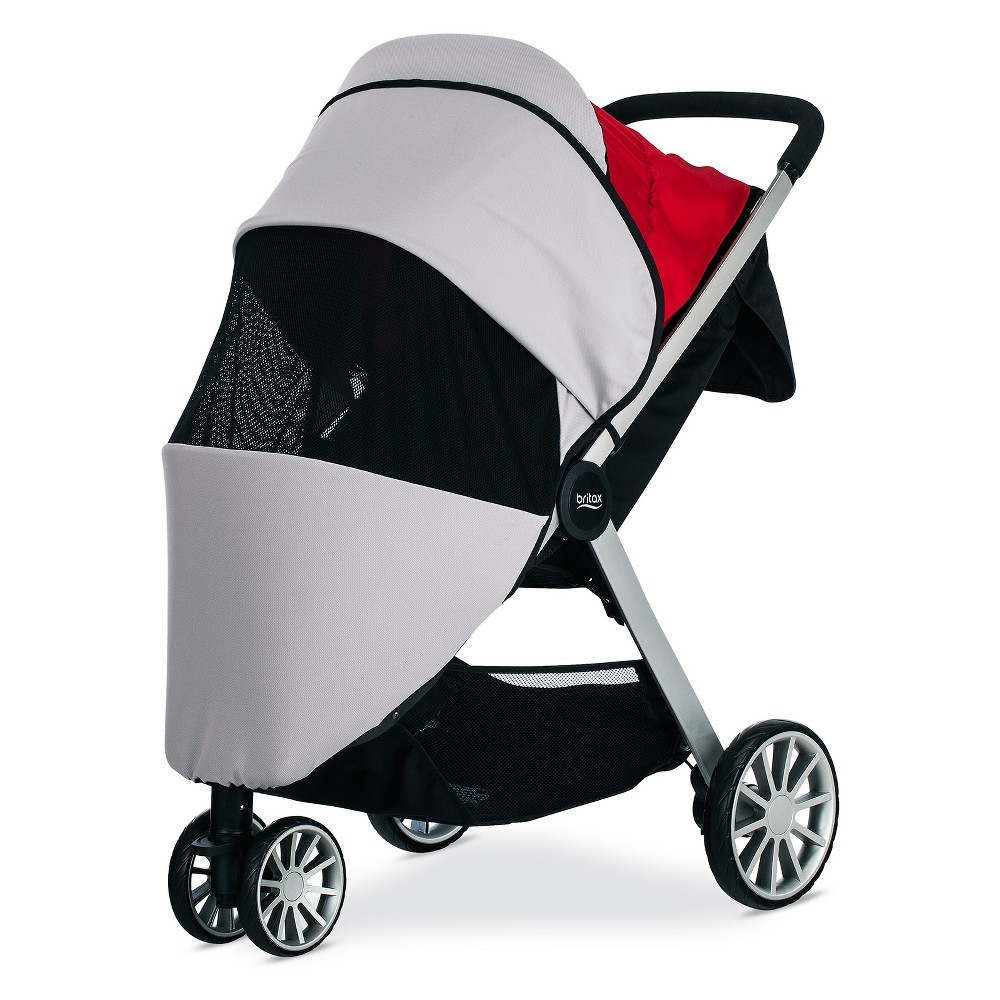 Britax B-Lively Sun and Bug Cover, Gray