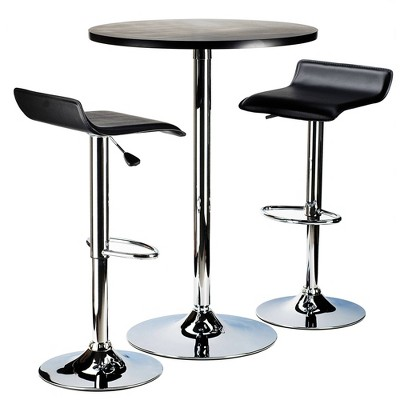 3pc Spectrum Bar Height Dining Set Black - Winsome