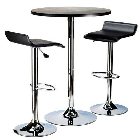 3pc Spectrum Bar Height Dining Set Black - Winsome - image 1 of 4