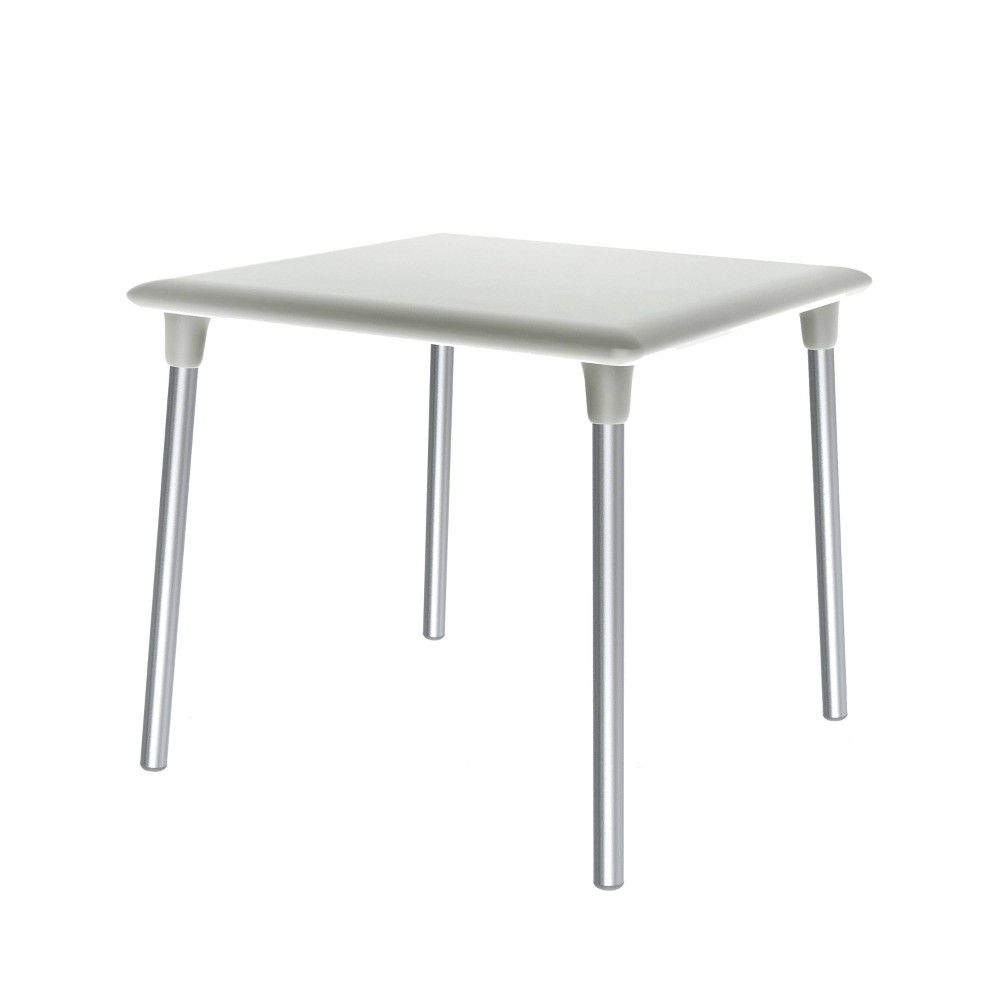 Image of New Flash Square Patio Table - White - RESOL