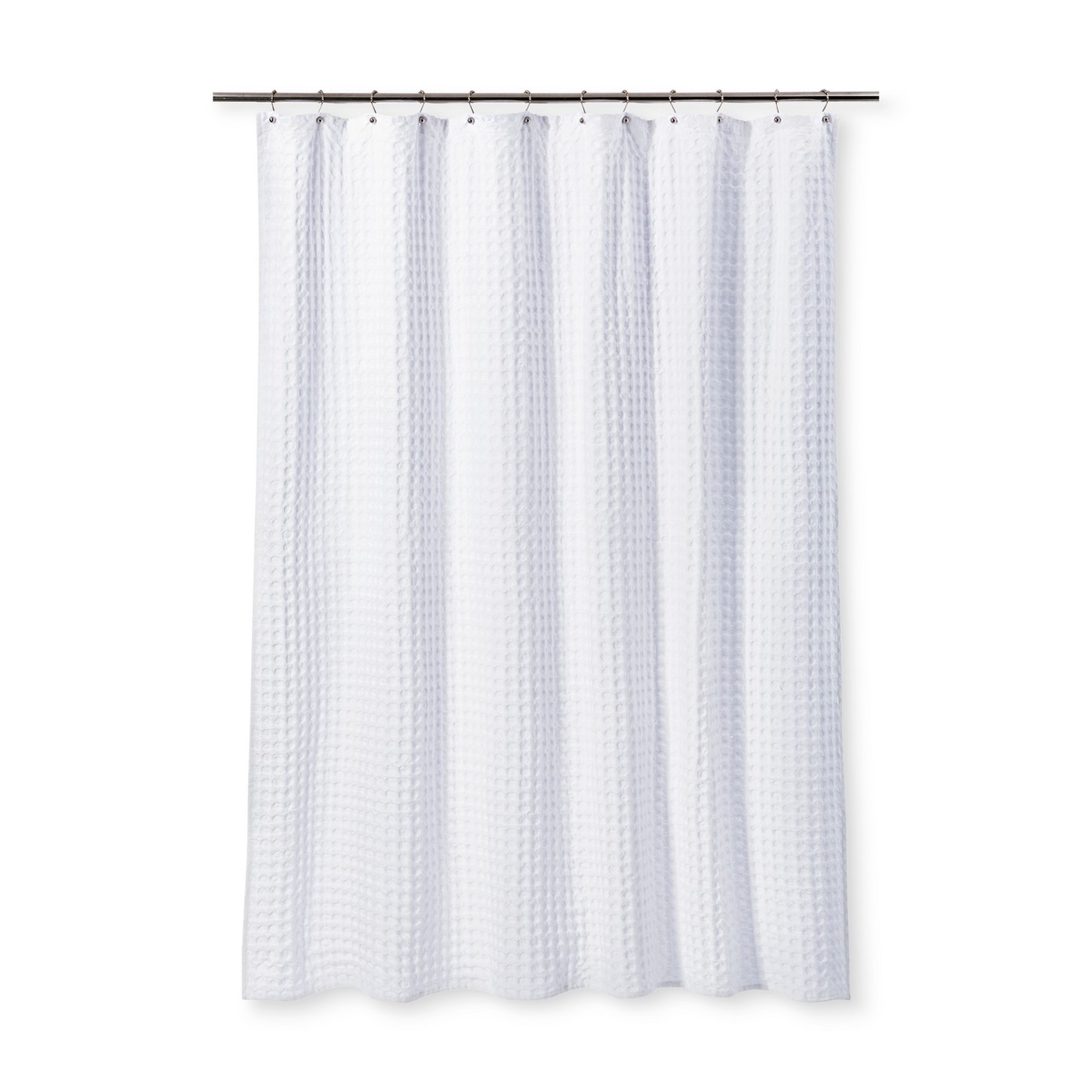 Jacquard Shower Curtain White - Fieldcrest® - image 1 of 1