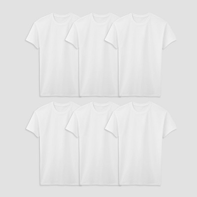 Fruit of the Loom Men's Tall Crew Neck Undershirt - White