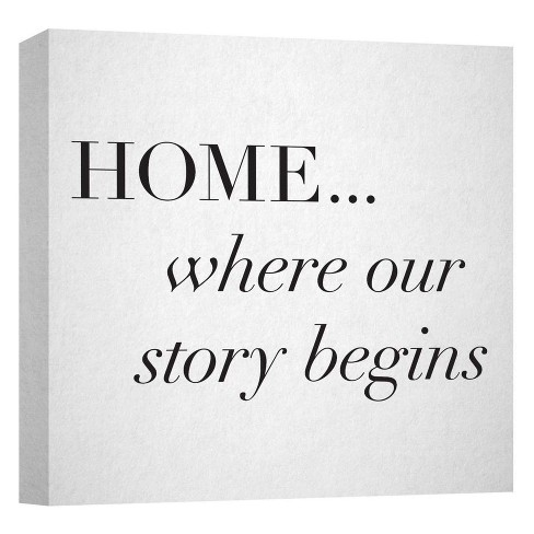 "Home I Decorative Canvas Wall Art 16""x16"" - PTM Images - image 1 of 1"
