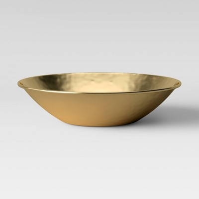 "3"" x 16"" Metal Bowl Gold - Threshold™"