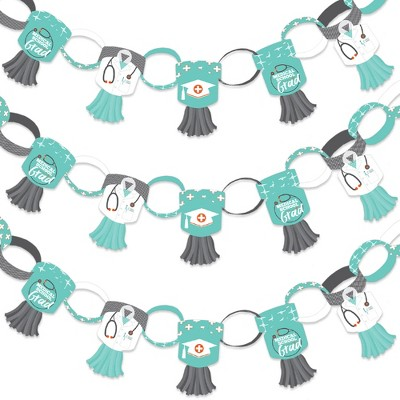 Big Dot of Happiness Medical School Grad - 90 Chain Links and 30 Paper Tassels Decor Kit- Doctor Graduation Party Paper Chains Garland - 21 feet