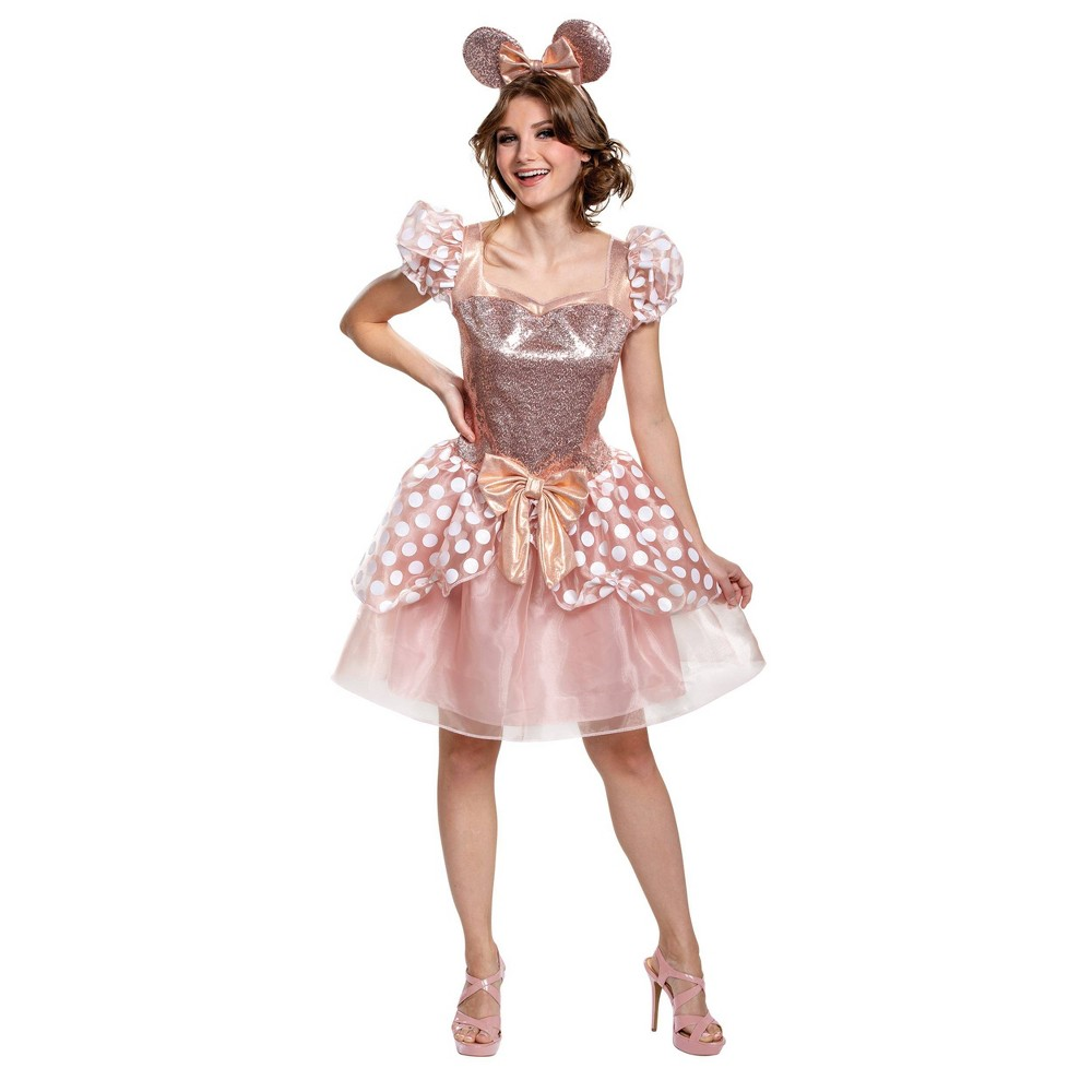 Woen 39 s innie ouse Rose Gold Halloween Costue