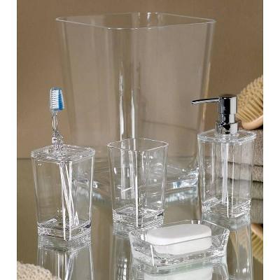 Optiks Bath Collection Moda At Home, Clear Bathroom Accessories