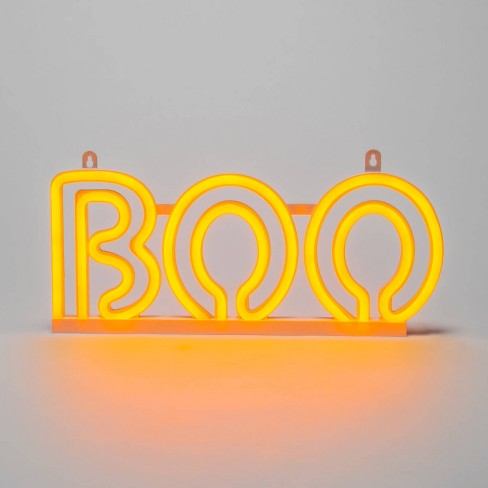 "Orange Chasing LED Neon Rope ""Boo"" Halloween Light Up Decor - Hyde & EEK! Boutique™ - image 1 of 3"