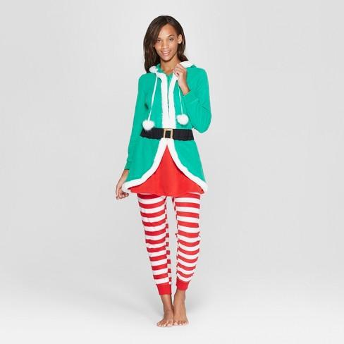 e26646f2c Women s Hooded Union Suit - Xhilaration™ Green XL XXL   Target