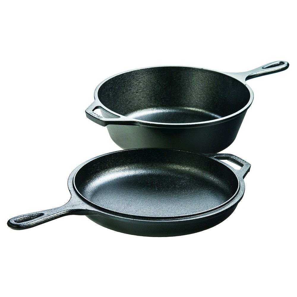 Lodge 3.2qt Cast Iron Combo Cooker, Black