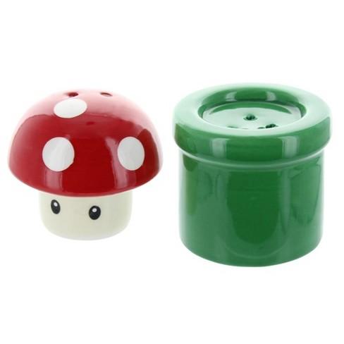 Nerd Block Super Mario Bros. Mushroom & Pipe Salt & Pepper Shakers - image 1 of 2