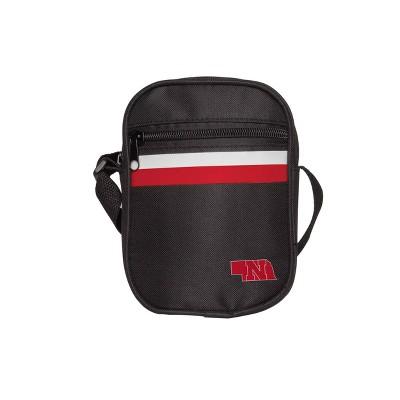 NCAA Nebraska Cornhuskers Black Mini Messenger Bag