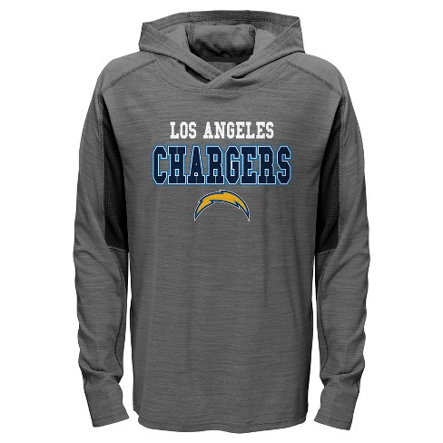 9a05662a Los Angeles Chargers Boys' Sideline Speed Gray Lightweight Hoodie L
