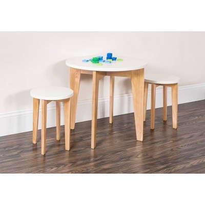Child Craft Geo Table and Stools - White/Natural