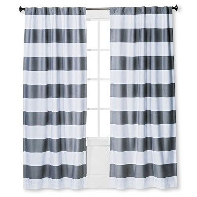 Twill Light Blocking Curtain Panel Gray (42 x63 )- Pillowfort™