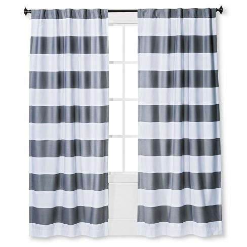 84 Quot Twill Light Blocking Curtain Panel Gray Pillowfort