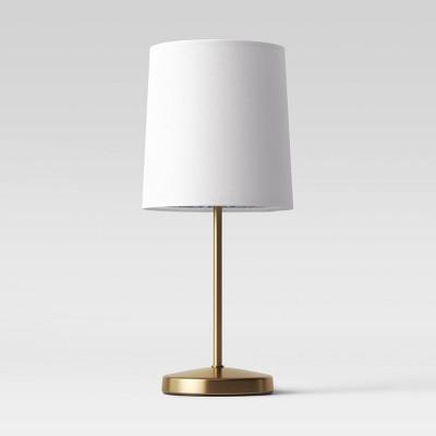 Mini Stick Table Lamp Textural Print Brass (Includes CFL Light Bulb)- Opalhouse™