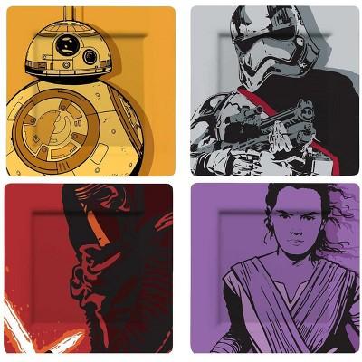 Se7en20 Star Wars The Force Awakens Melamine 4 Pieces Plate Set
