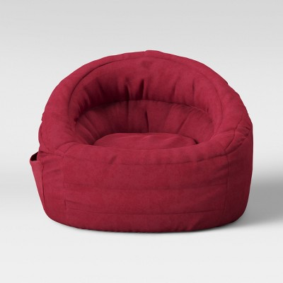 Cocoon Bean Bag Chair with Pocket Red - Pillowfort™