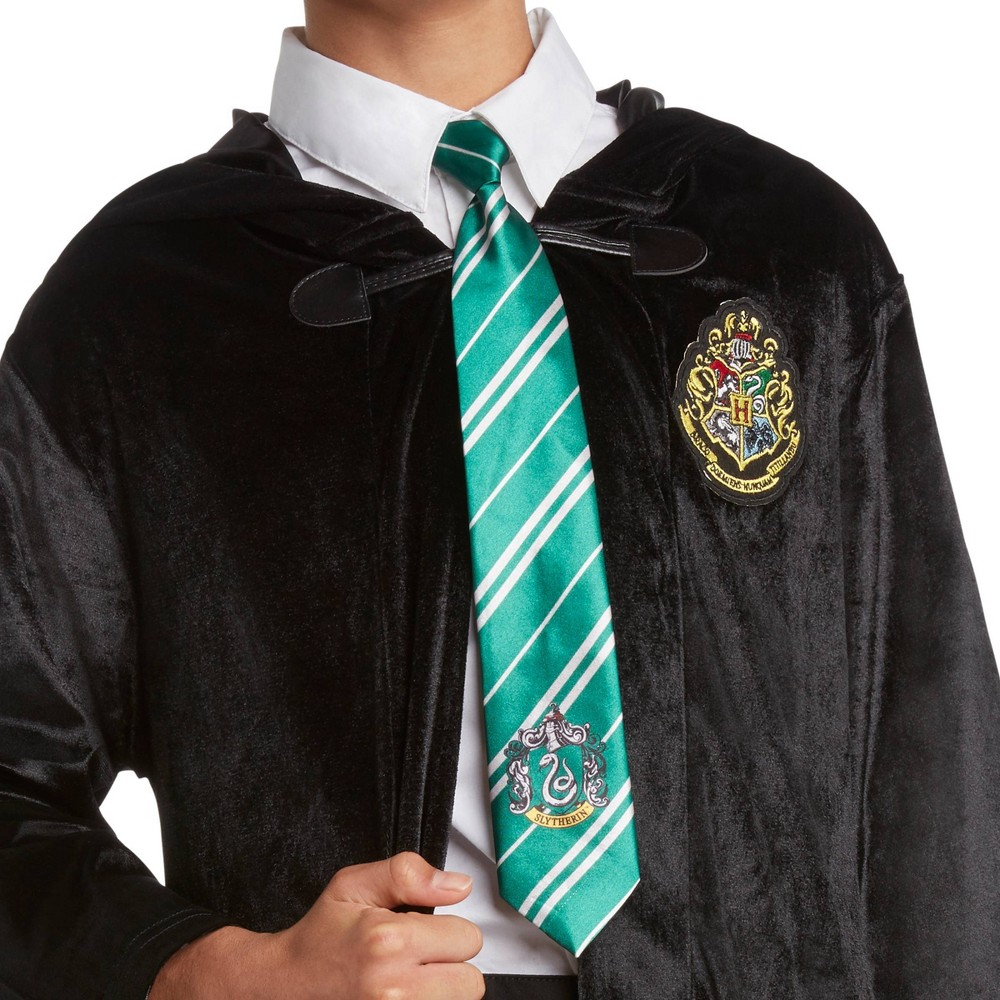 Image of Halloween Harry Potter Slytherin Halloween Costume Halloween Costume Tie, Adult Unisex, Yellow