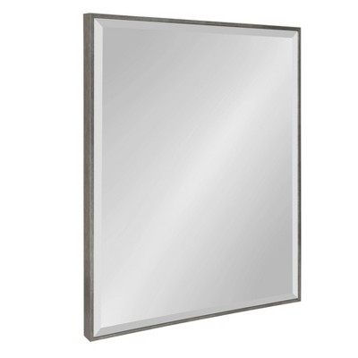 "23"" x 29"" Rhodes Framed Wall Mirror Dark Silver - Kate and Laurel"