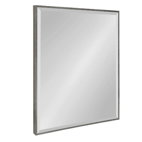 """22.75""""x28.75"""" Rhodes Framed Wall Mirror Dark Silver - Kate and Laurel - image 1 of 4"""