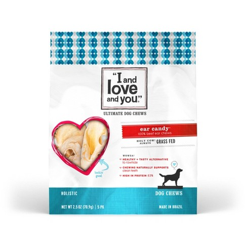I and Love and You Ear Candy, Cow Ears Dog Chews - 5ct - image 1 of 4