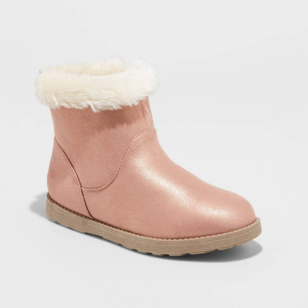 Image of Girls' Haiden Shearling Boots - Cat & Jack Pink 5