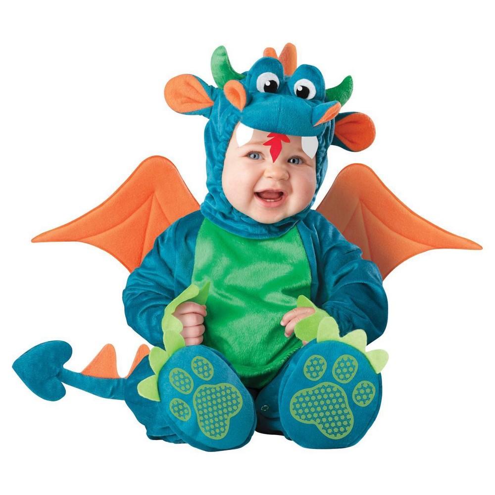 Image of Halloween Boys' Dinky Dragon Costume 6-12 Months, Boy's, Green