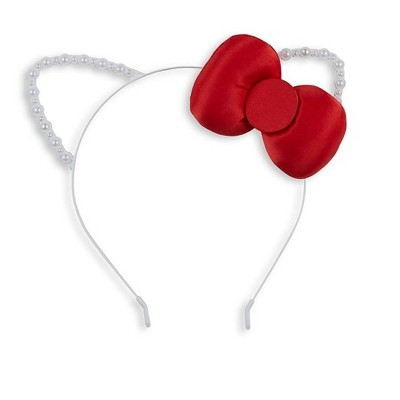 A Leading Role Sanrio Hello Kitty Deluxe White Costume Headband With Red Bow