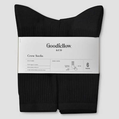 Men's Odor Resistant Socks 6pk - Goodfellow & Co™ - 6-12