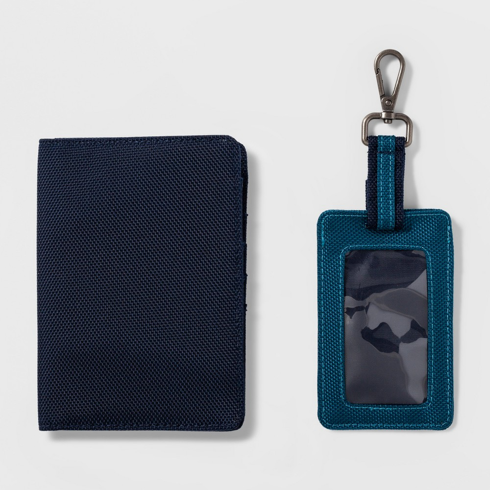 Travel Luggage Tag 2pc - Goodfellow & Co Blue