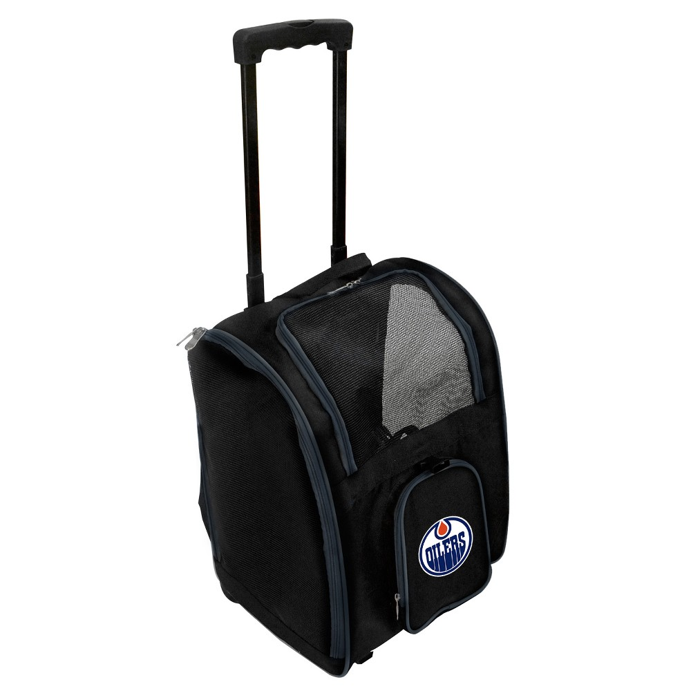Edmonton Oilers Premium Wheeled Travel Dog and Cat Carrier